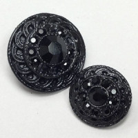 KMR-446 Black Metal with Jet Stones, 2 Sizes