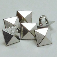 M-11618 - Silver Pyramid Button