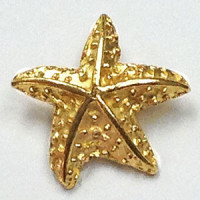 M-1309-Gold Metal Starfish Button
