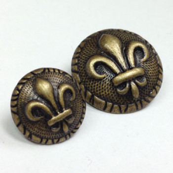 M-1877 Fleur de Lis Button - 2 Sizes