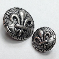 M-1878 Fleur de Lis Button - 2 Sizes