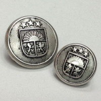 M-2325 Antique Silver Blazer Button, 2 Sizes