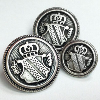 M-3211 Antique Silver Blazer and Coat Button - 4 Sizes