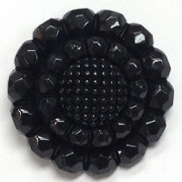 NV-1390-Black Fashion Button, 4 Sizes