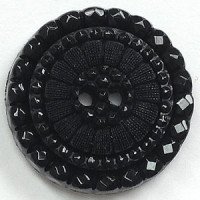 NV-1392-Black Fashion Button, 3 Sizes