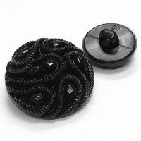 NV-1840 - Black Fashion Button - 5 Sizes
