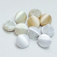 W-1035CB-Satin Bridal Button with Fabric Covered Back - 3 Colors, Priced by the Dozen