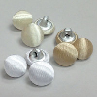 W-1040-Satin Bridal Button with Hopper Back, Priced by the Dozen
