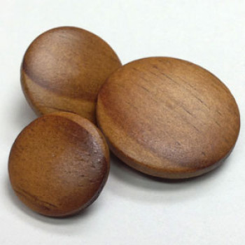 WD-1530  Wood Shank Button, 3 Sizes