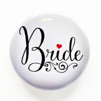 """PBC-029 Bride Button, 2-1/4"""""""