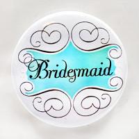 "PBC-030 Bridesmaid Button, 2-1/4"""