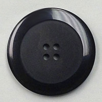 1187-Black Marbled Button, 8 Sizes