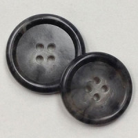 HNX-34 - Grey Overcoat Button - 2 Sizes