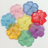 CLM-25 - Acrylic Flower Button - 8 Colors