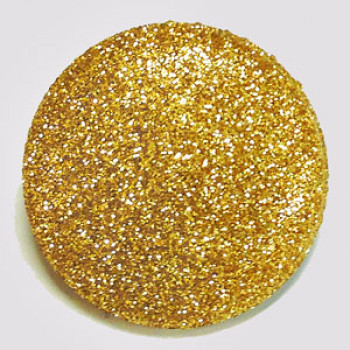 LM-200 Large Gold Glitter Button
