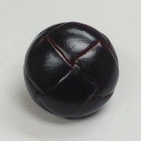 L-1365 Dark Antique Brown 5/8 inch Leather Button