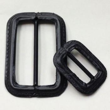 L-1420 Black Leather Coat Buckle - 2 Sizes