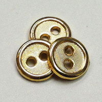 M-0757 - Gold Metal Shirt Button