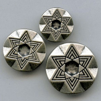 M-1655-Etched Metal Button, 3 Sizes