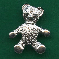 M-345-Metal Teddy Bear Button