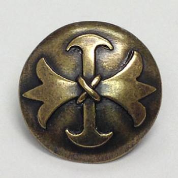 M-7825A - Antique Brass Celtic Cross Button - 3 Sizes