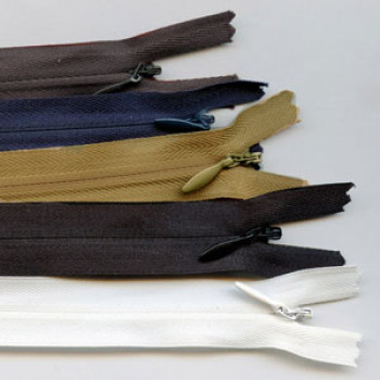 White 5 inches Zipper 5 Invisible Nylon Zipper