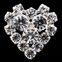 C-1290 Crystal Rhinestone Button