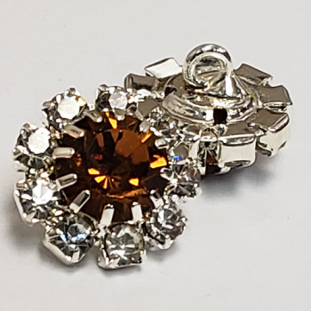 C-1339 - Crystal Rhinestone Button - 9 colors