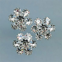 C-1342-Crystal Rhinestone Button