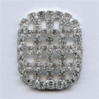 C-1344-Crystal Rhinestone Button