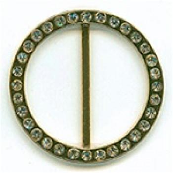 Z-1359-Gold Rhinestone Buckle