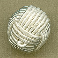 "CK-12-Hand-Braided Knot Button  (3/4"")"