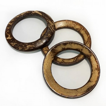 CO-1136-Natural Coconut O-Ring, 2 Sizes