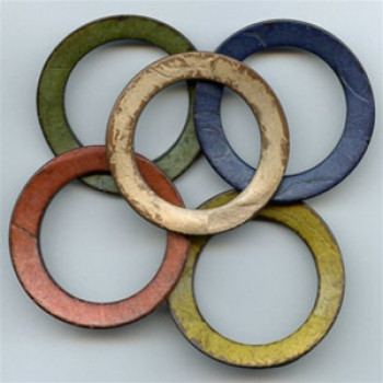 CO-1136A - Coconut O-Ring, 4 Colors