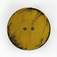 CO-26 XL - Extra Large Yellow Large Coconut Button, 2-1/2""