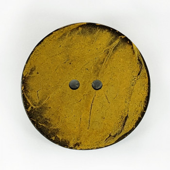 """CO-26 XL - Extra Large Yellow Large Coconut Button, 2-1/2"""""""