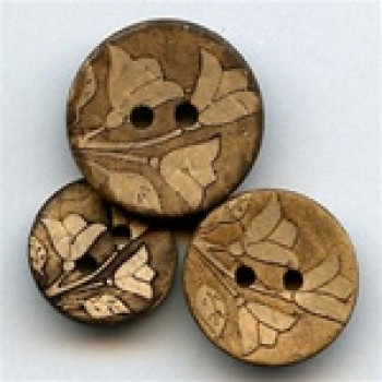CO-632-Lasered Coconut Button, 3 Sizes