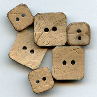"CO-675-Square Coconut Button (3/4"" x 3/4"" Only)"