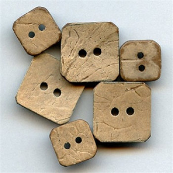"""CO-675-Square Coconut Button (3/4"""" x 3/4"""" Only)"""