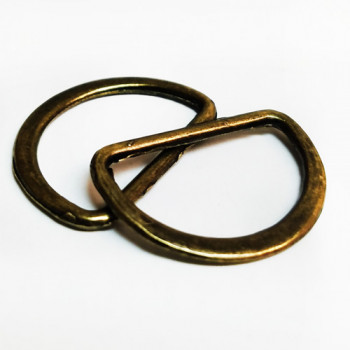 D-102 Antique Brass, 3/4 inch D-Ring -- Priced by the Dozen