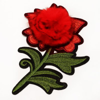 E-1820 Iron-on Embroidered Rose Applique