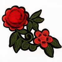 E-1821 Iron-on Embroidered Rose Applique