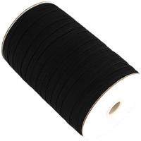 EL-1285 Black, 3/8 Inch Braided Elastic — Sold in lengths of 12 or 144 Yards