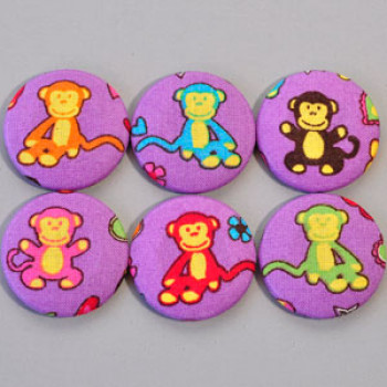 F-1332 Colorful Monkey Buttons (Set of 6)
