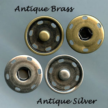 FSN-06 Jumbo Snap in Antique Silver or Antique Brass