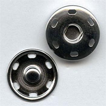 FSN-10 Large Silver Sew On Snap