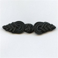 FR-1003-Black Braided Frog Closure