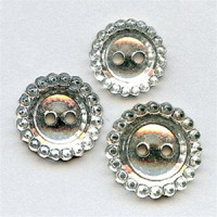 G-0648 Mirrored Glass Button - 4 Sizes