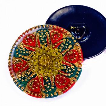 "G-2930-2 - Vintage Glass Button, 1-1/8"""