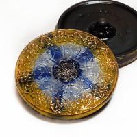 """G-4013-3 Vintage Multicolor Glass Button, 1-1/4"""""""